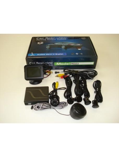 Parkovací systém s kamerou, farebným TFT displejom a 4 senzormi