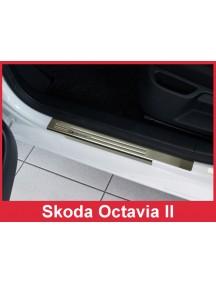 Nerezové kryty prahov Škoda OCTAVIA II -- rok výroby 2004-2012