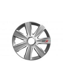 """Puklica / Hubcap silver GTX carbon 15"""" / 16"""""""