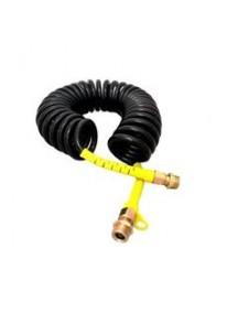 Špirálová hadica PUR M22 čierno-žltá 7,5m