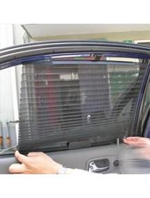 Slnečná clona  2x46 cm čierna, PVC